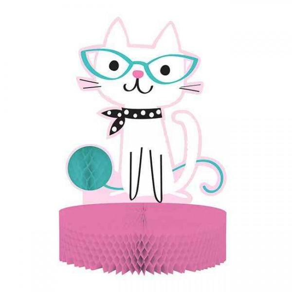 """Tischdeko """"Kleines Kätzchen Kitty"""" 30 cm - Katzen Schnurrparty"""