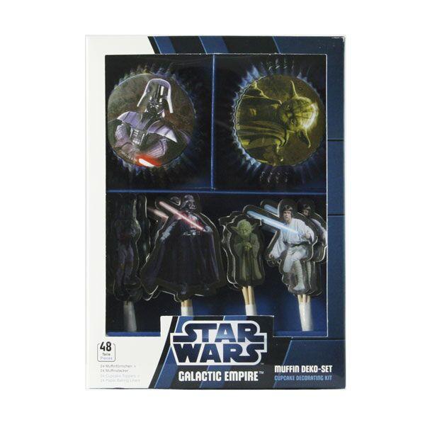 Star Wars Muffin Deko Set 48 Teile - Star Wars Party