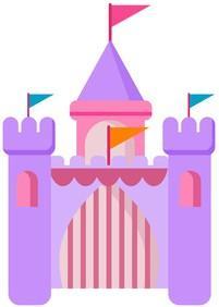 Prinzessinnen Spiele,ein Schloss für Prinzessinnen in rosa