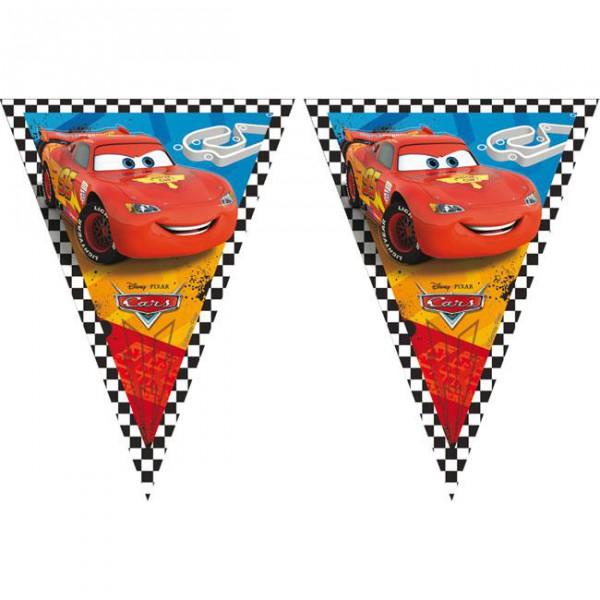 "Wimpel-Girlande ""Cars Rennen"" 230 cm ✔ mit Lightning McQueen ✔"