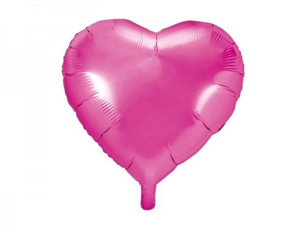 Herz-Folienballon - pink - 45 cm - Luftballon