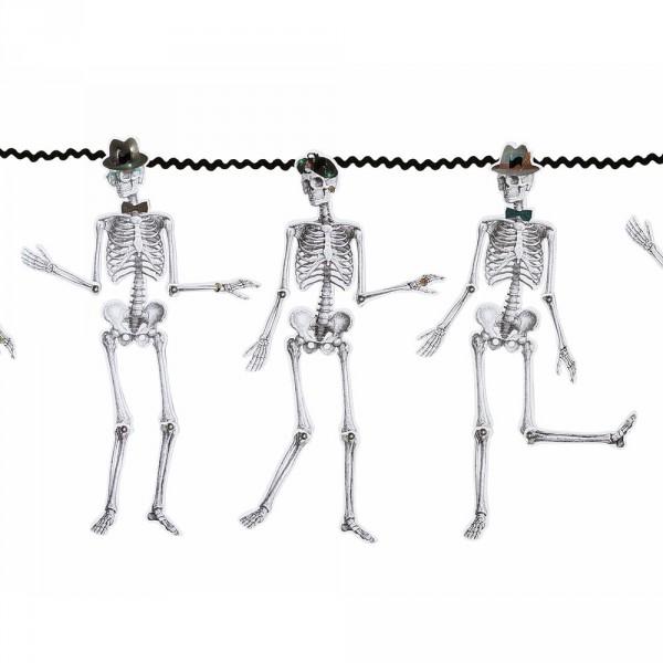 Girlande mit 16 Skelette für gruselige Geister, Halloween und Piratenpartys!