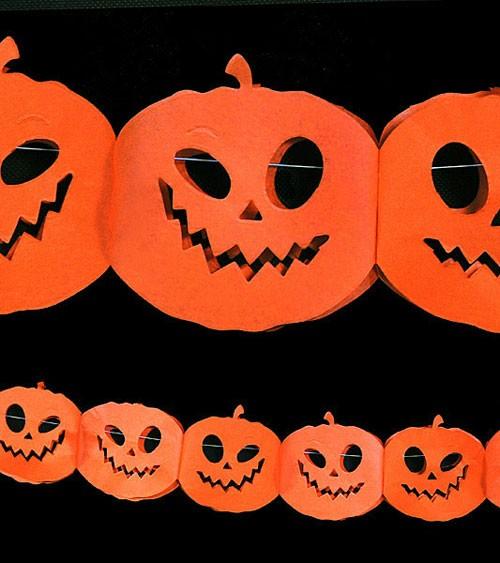 """Halloween-Girlande """"Kürbis"""" - orange - 3 m"""