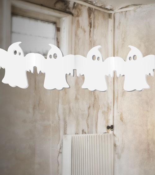 """Halloween-Girlande """"Gespenst"""" - weiß - 3 m"""