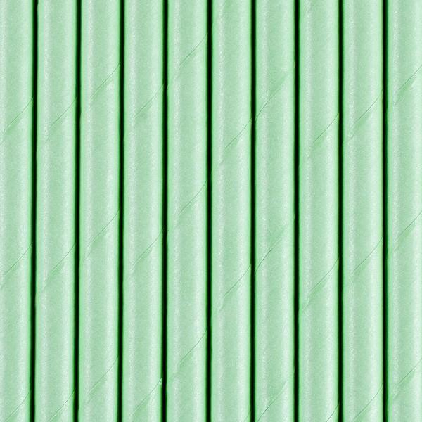 Papierstrohhalme - grün- 10 Stück