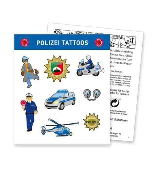 """Tattoos """"Polizei"""" - 1 Bogen - Mitgebsel"""
