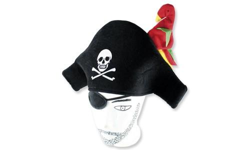 Piratenhut mit Papagei für Mottoparty | Verleihkisten für Kindergeburtstage