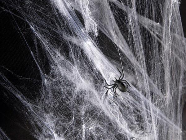 Spinnennetz aus Kunstfaser - weiß - 60 g - Halloween