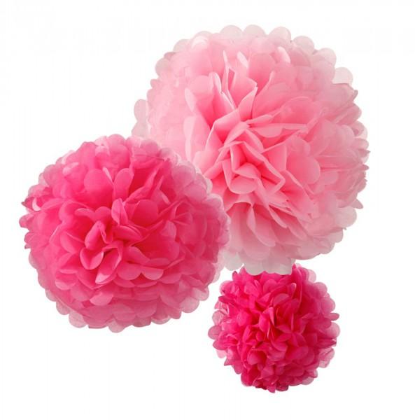 PomPoms in verschiedenen Größen und Farben