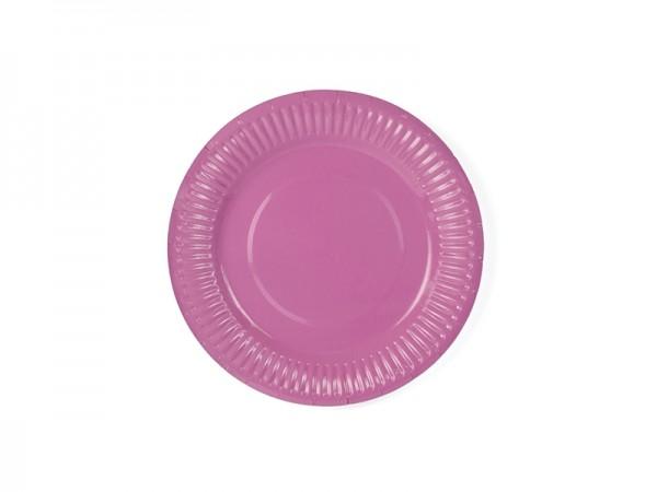 Kleine Pappteller - pink - 6 Stück