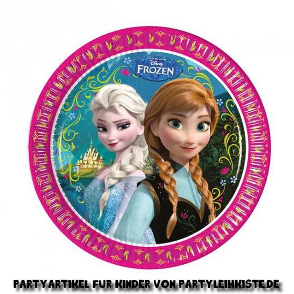 """Pappteller """"Die Eiskönigin - Disney"""" 8er Pack ➤ mit Elsa und Anna aus Frozen ✔"""