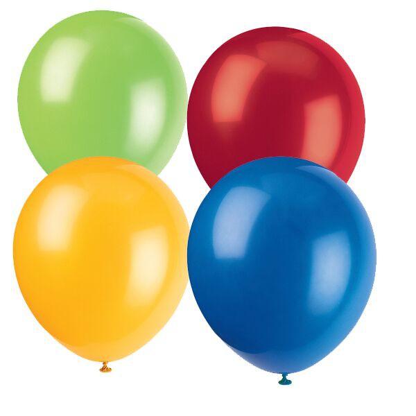10 kunterbunte Luftballons aus Naturkautschuklatex für Partydekorationen