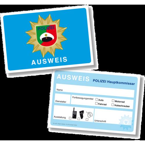 """Dienstausweis """"Polizei"""" zum Ausfüllen 6er Pack online kaufen"""