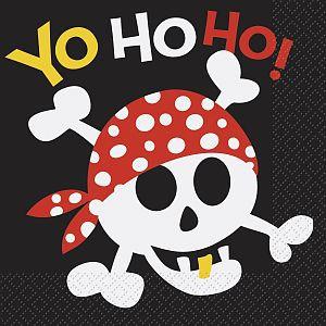 """Servietten """"Ahoi Piraten"""" 16er Pack - Partyzubehör online kaufen"""