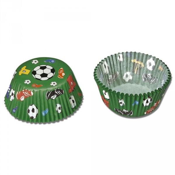 Muffinförmchen mit Fußball Motiv für Fußballparty