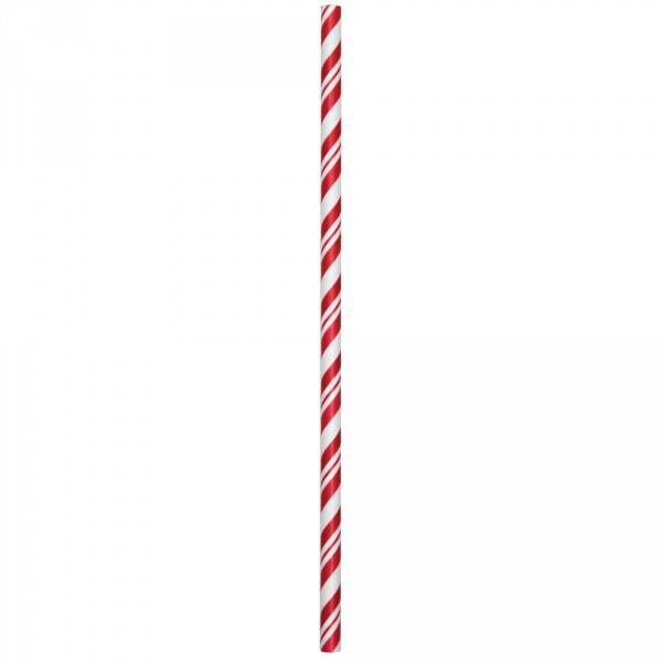 24 Papier Trinkhalme Rot Weiß gestreift - Partydeko kaufen