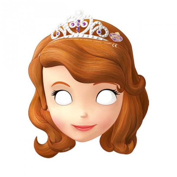 """Pappmasken """"Sofia die Erste"""" 6er Pack ✔ Auf einmal Prinzessin"""