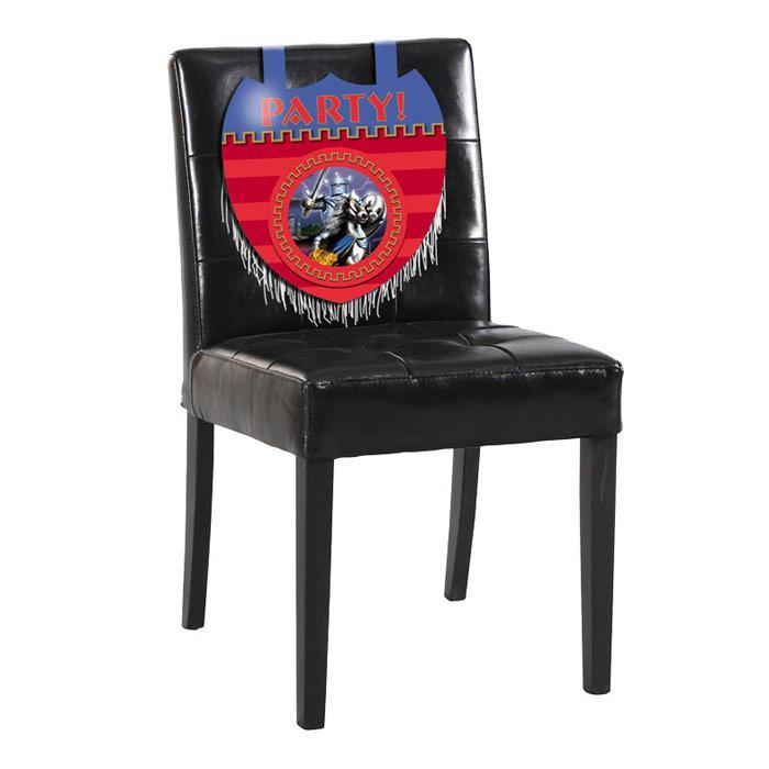 stuhl deko silberner ritter 35 cm partydeko f r kinder. Black Bedroom Furniture Sets. Home Design Ideas