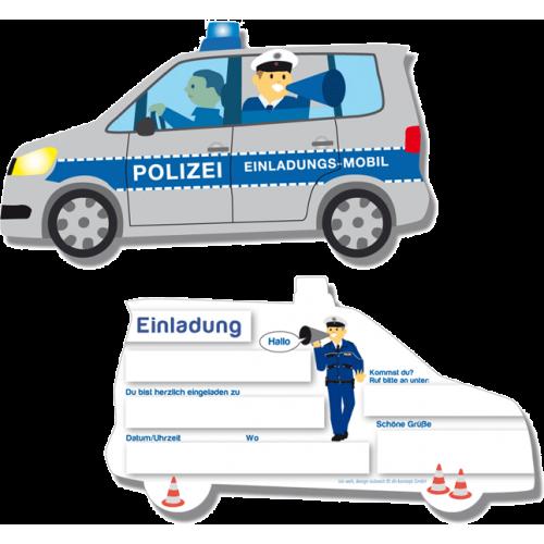 """Einladungskarten """"Polizei"""" 6er Pack online kaufen"""