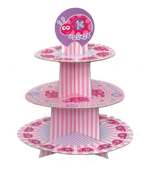 """Cupcake-Ständer """"1. Geburtstag Marienkäfer"""""""