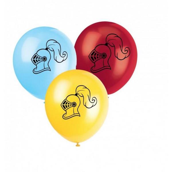 Beidseitig bedruckte Luftballons mit Ritterhelm