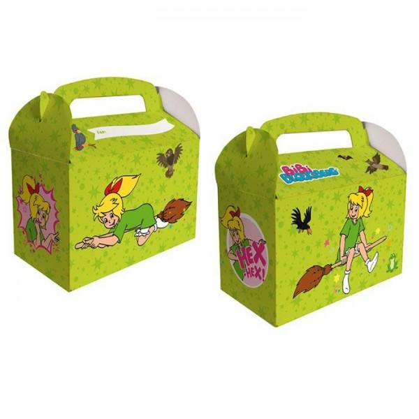 """Geschenkboxen """"Bibi Blocksberg"""" 6er Pack - Mitgebselbox Kindergeburtstage"""