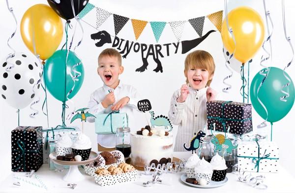 """Beispieldekoration - Party-Deko-Set """"Dinosaurier-Party"""" - 39-teilig"""