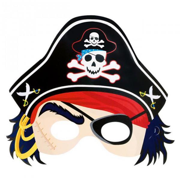 Piraten Maske mit Gummizug für Kinder