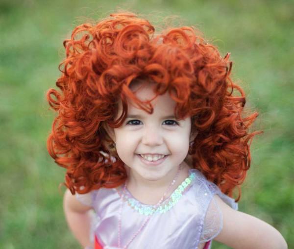 Haarreifen Rote Locken für Kinder von Great Pretenders