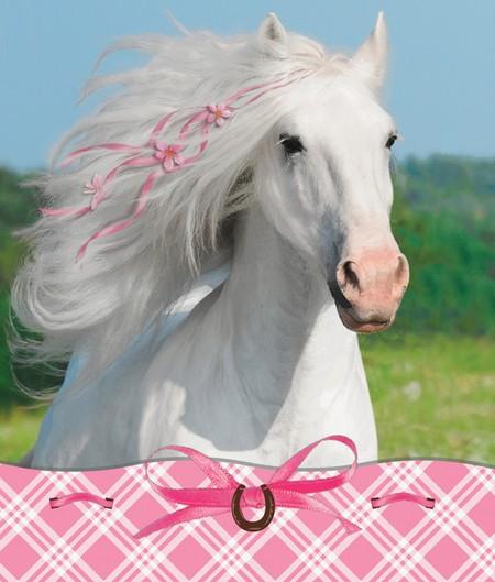 Notizblock mit Stickern - Mitgebsel Pferdegeburtstag