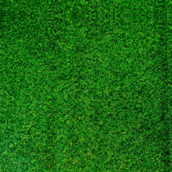 Tischdecke Fußballfeld - Kunststofftischdecke in grüner Rasen Optik
