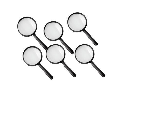 Detektiv Mini-Lupen 6er Pack - Kinderparty Mitgebsel Set