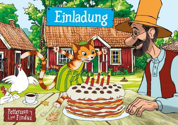 Einladungskarten - Pettersson und Findus 8er Pack