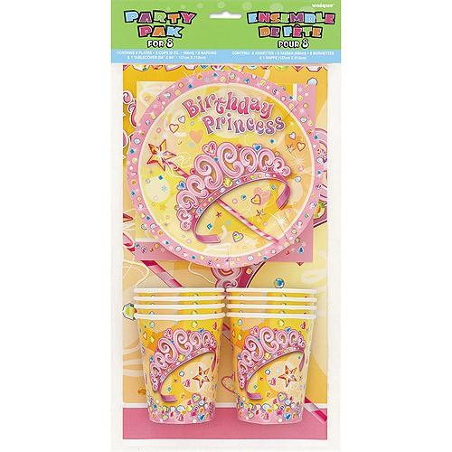 Birthday Princess Tischdeko-Set, 52-teilig ✔ zum Kindergeburtstag ✔ Mottoparty Prinzessin Partyset