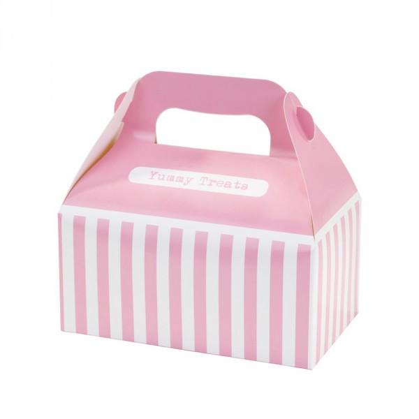 Mitgebsel Geschenke Box 4er Set in weiss,rosa aus Pappe