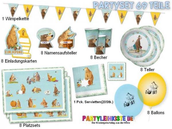 """Kindergeburtstag Set """"Dr.Brumm"""" 69-tlg. - Partyset für Kinder"""