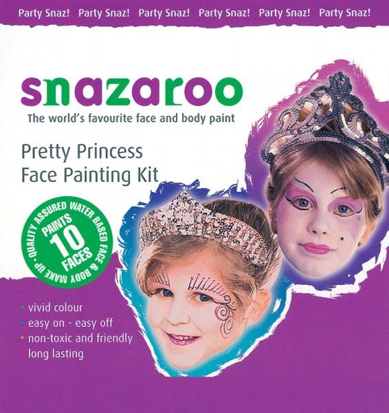 Kinderschminkset Prinzessin und Fee 3 Farben mit Pinsel