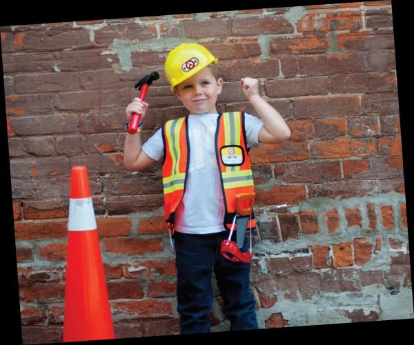 Kostüm-Set Bauarbeiter, Alter 5-6 Jahre