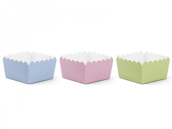 Snackschalen - pastell - 6 Stück