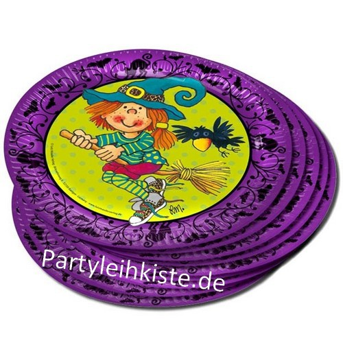 """Partyteller Hexe """"Mira Mistelzweig"""" Hexenzubehör für Hexenparty"""