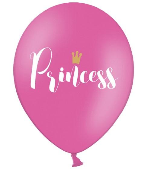 "Luftballons ""Princess"" - pink - 6 Stück"