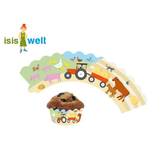 """12 Deko-Banderolen für Muffins """"Bauernhof"""" Cupcake Deko online kaufen"""
