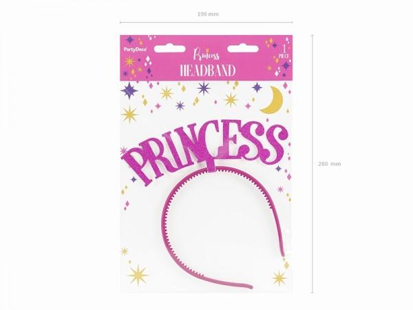 "Haarreif ""Princess"" - glitter pink"