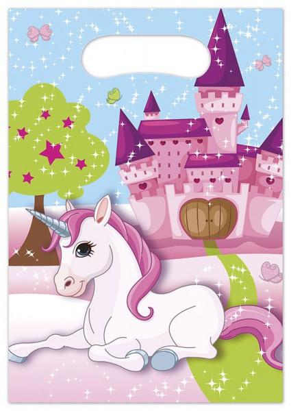 Partytüten Einhorn, 6 Stück - Unicorn Kindergeburtstag Mitgebseltütchen