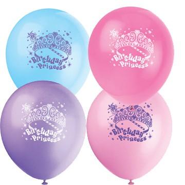 8 Luftballons für eine Prinzessinparty