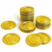 Goldtaler in Verkleidungskiste, verleihkiste