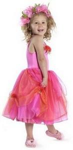 Feenkostüm | Karneval, Mottoparty, ein Traum iin orange/pink | Verkleidungen und Kostüme für Kinder