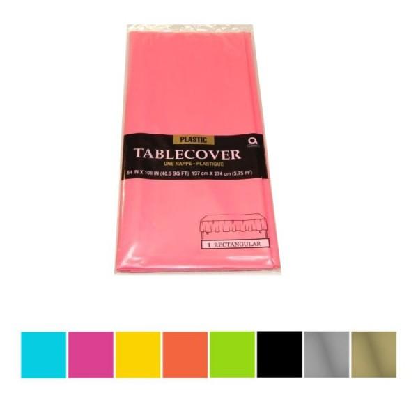 Einfarbige Tischdecken aus Kusntstoff in verschiedenen Farben - 137 x 274 cm - wasserfest und abwischbar