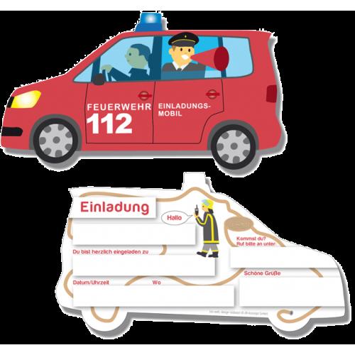 """Einladungskarten """"Feuerwehr"""" 6er Pack  online kaufen"""
