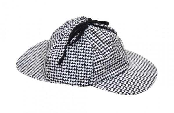 Detektivmütze im klassischen Karo Sherlock Holmes Look